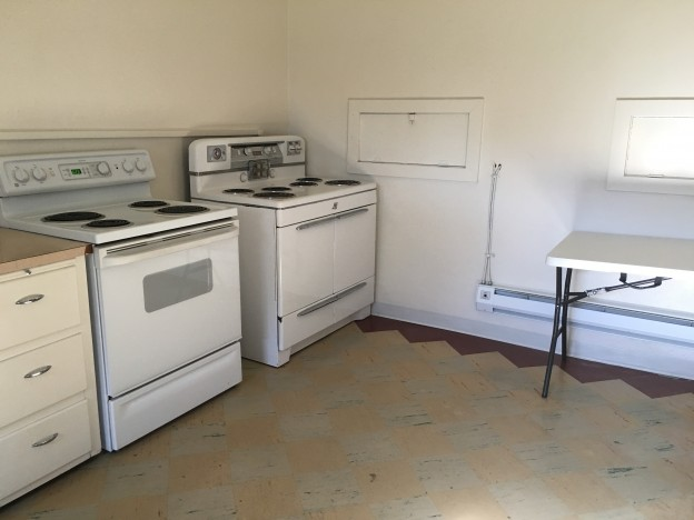 Stove area - Both stoves are working stoves.