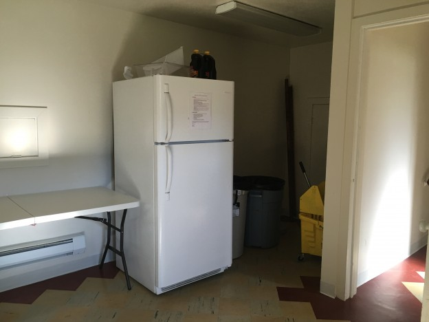 Fridge area - There is one fridge.